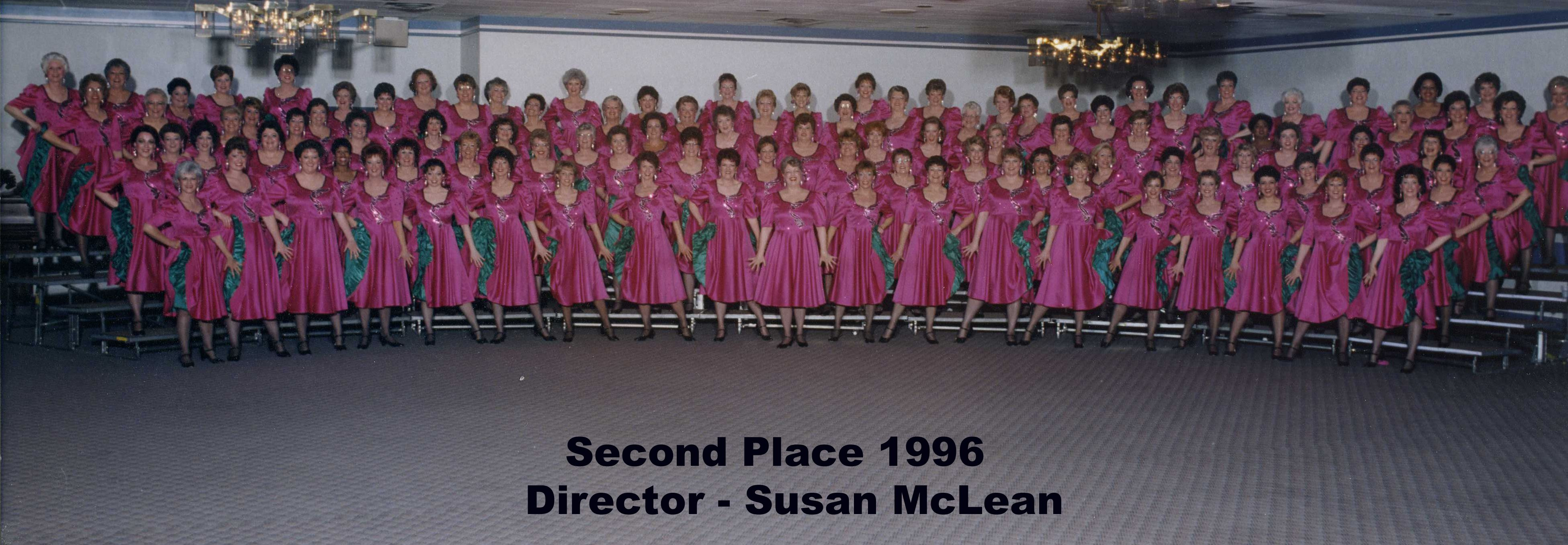 Chinook Winds Show Chorus - Second Place 1996